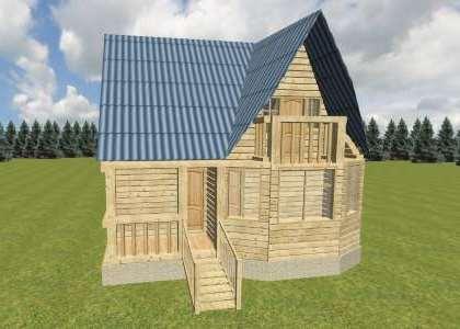 экологичный деревянный дом